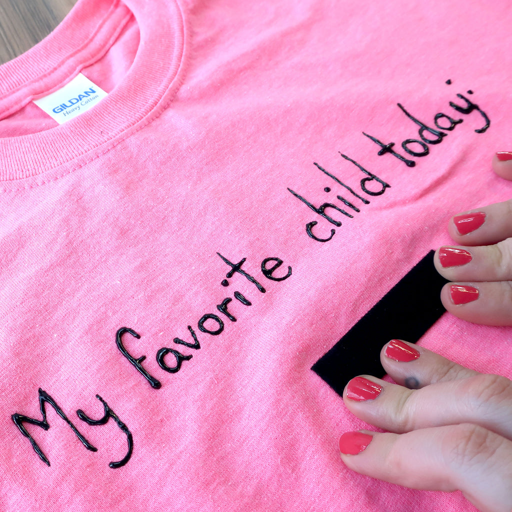 Step 5 - DIY Mother's Day Gift Idea - Favourite Child T-Shirt