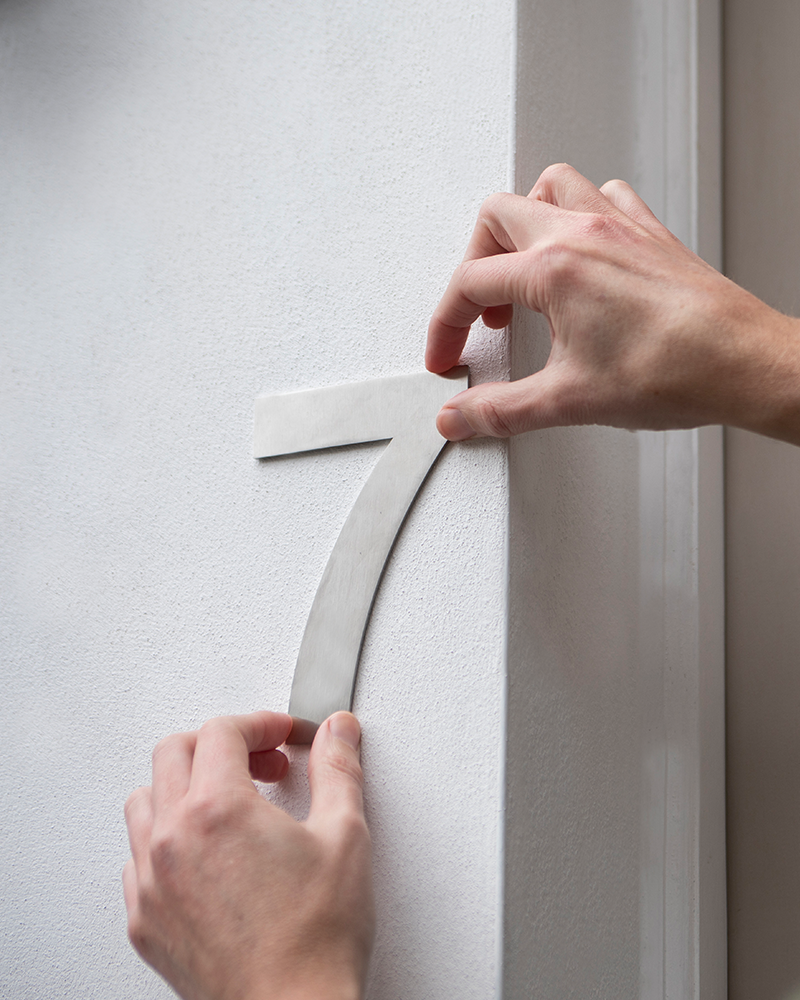 Attaching House Numbers to Brick Without Drilling