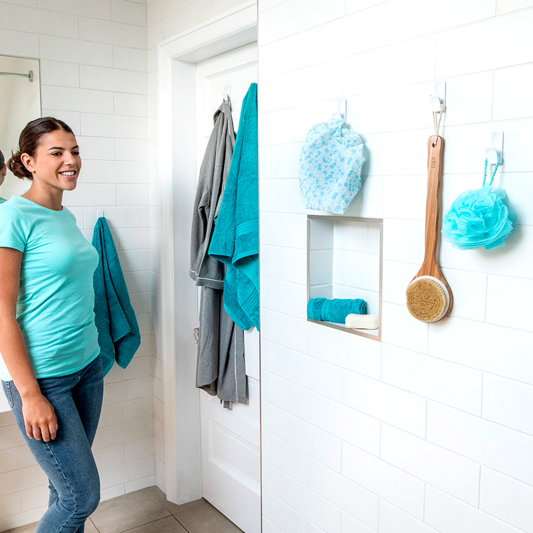 Hang Bathroom Accessories on Tiles Without Nails