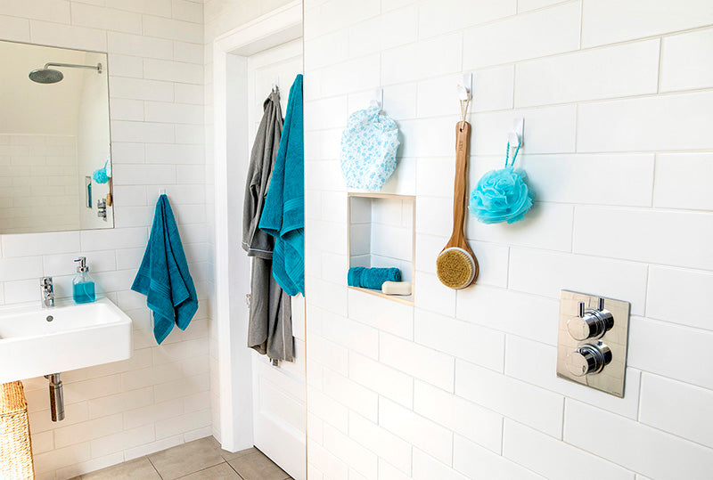 How to Mount Bathroom Hooks to Tiles Without Drilling