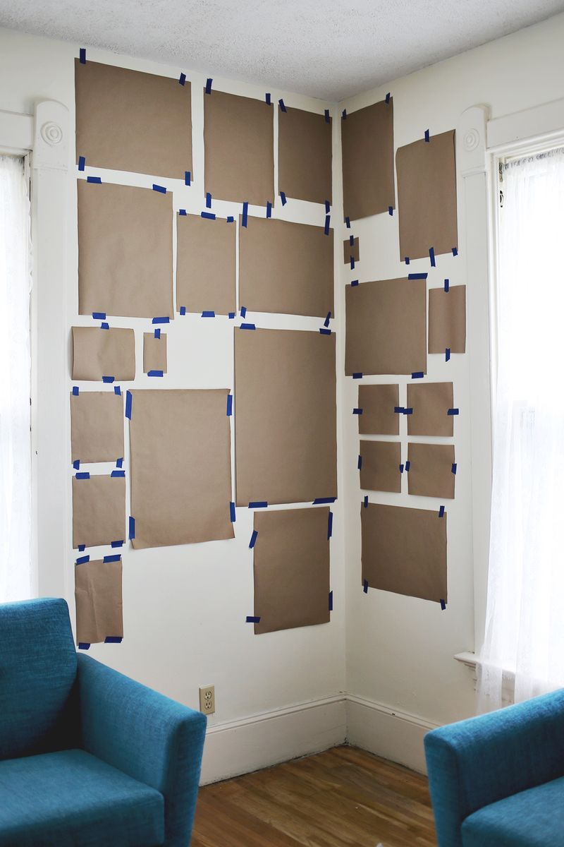 Plan a Corner Gallery Wall with Paper Templates