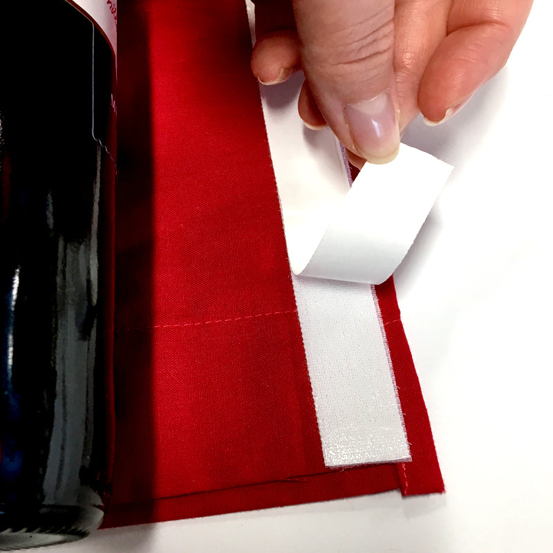 DIY Santa Wine Bottle Cover Step 4