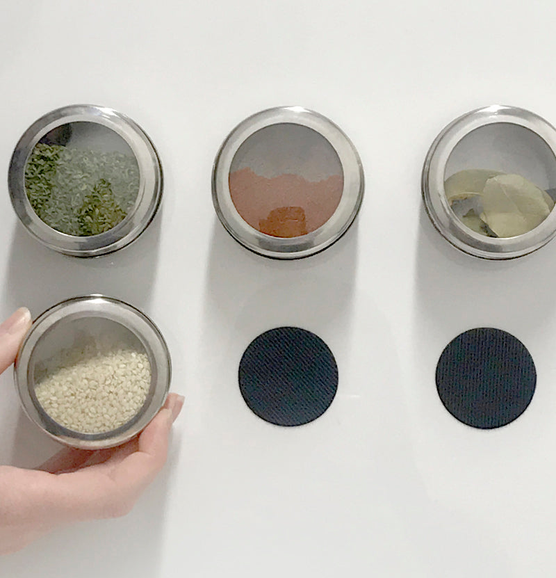 DIY Spice Rack Using VELCRO® Brand Heavy Duty Coins