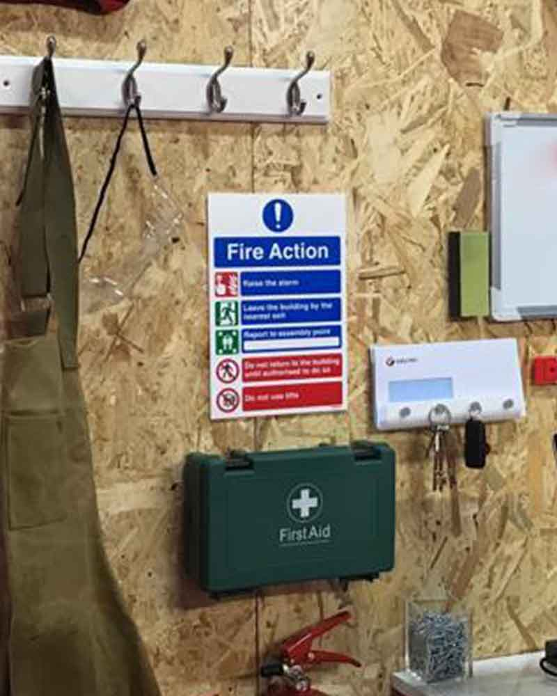 Workshop Organisation - First Aid Kits and Signage