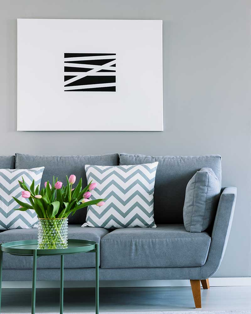 How High to Hang Pictures Above a Sofa