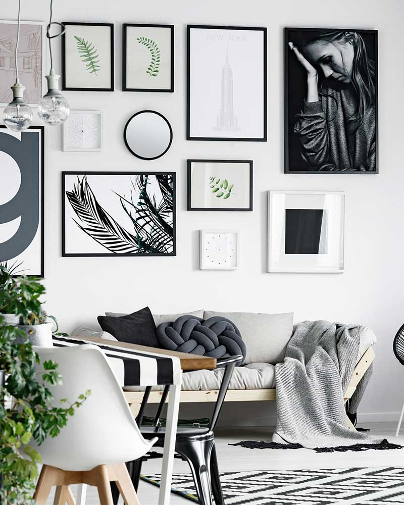 How High to Hang Pictures on a Wall