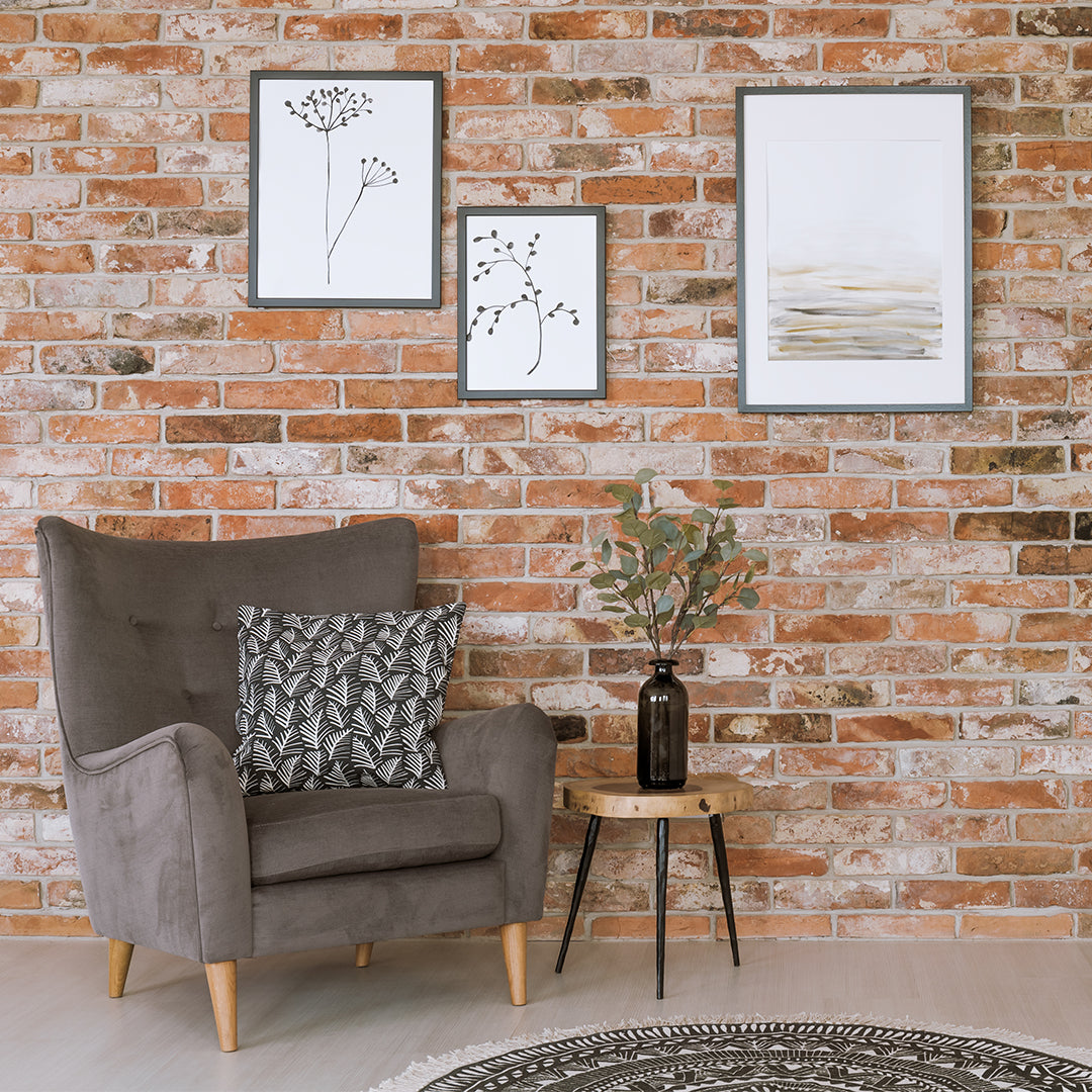How to Hang Pictures on a Brick Wall