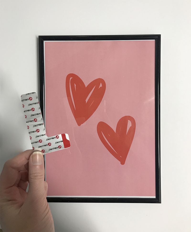Valentine's Day Gallery Wall Without Nails