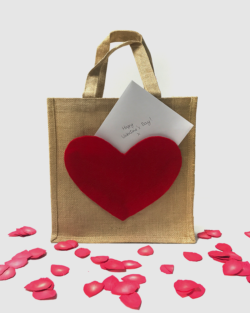 Valentine's Day Gift Bag Idea with a Secret Pocket