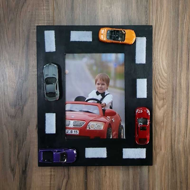 Upcycled Old Toy Cars Photo Frame