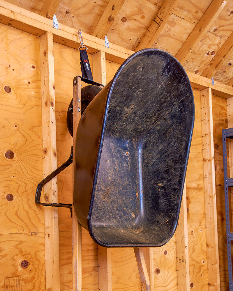 Wheelbarrow Storage - Shed Organisation