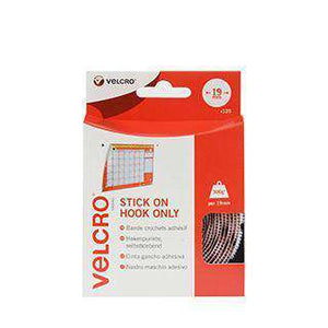 Coins - VELCRO® Brand Stick On Coins (Hook Only) In White, Pack Of 125