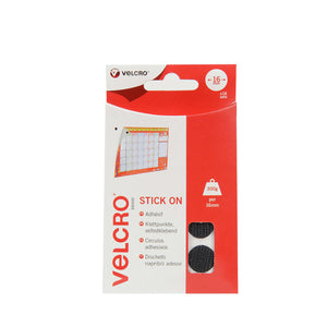 Coins - VELCRO® Brand Stick On Coins In Black Pack Of 16