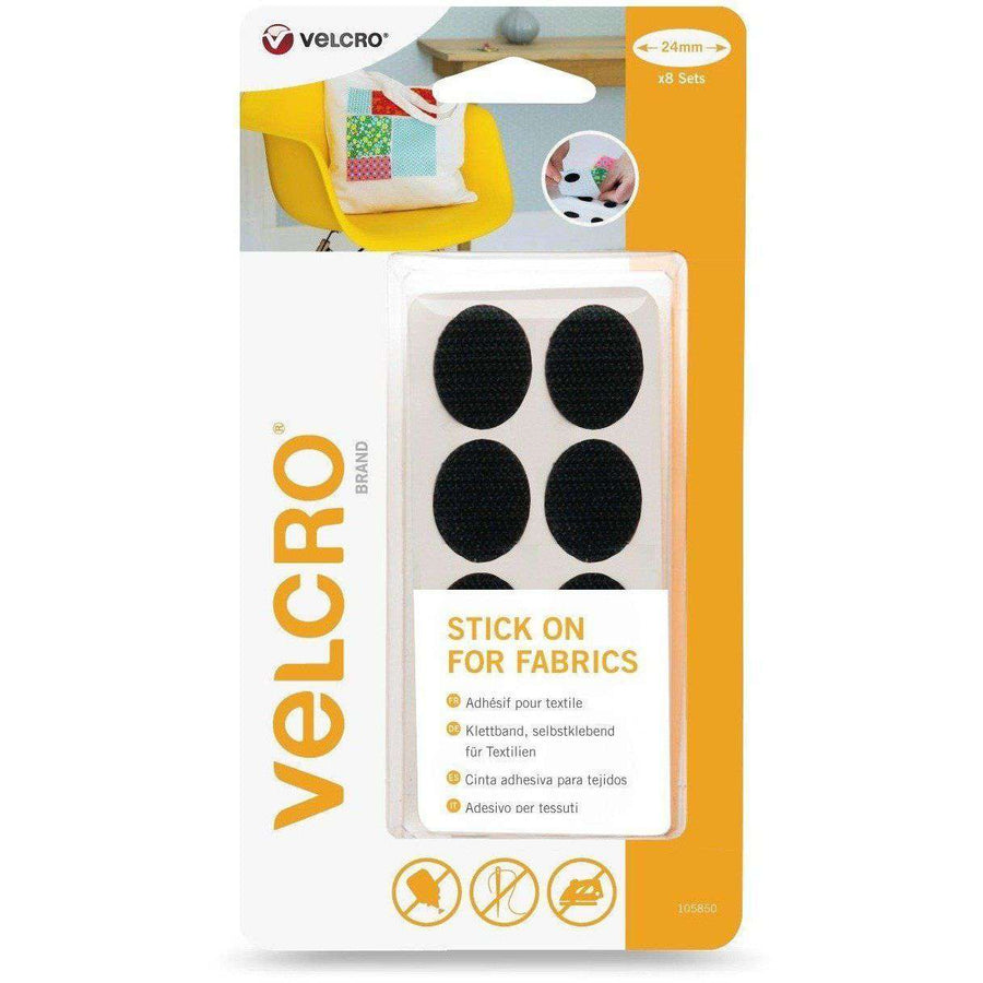 Ovals - VELCRO® Brand Stick On For Fabrics Ovals In Black