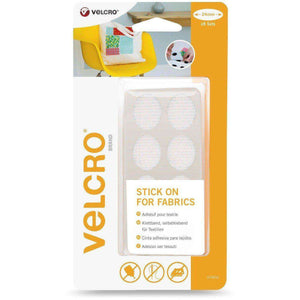 Ovals - VELCRO® Brand Stick On For Fabrics Ovals In White