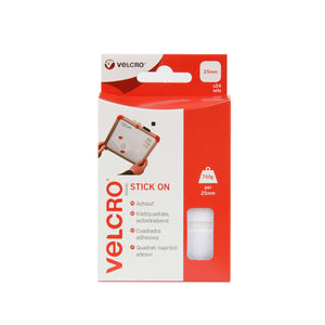 Squares - VELCRO® Brand Stick On Squares Pack Of 24 In White