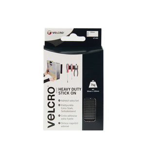 Strips - VELCRO® Brand Heavy Duty Stick On Strips Black (Pack Of 2)