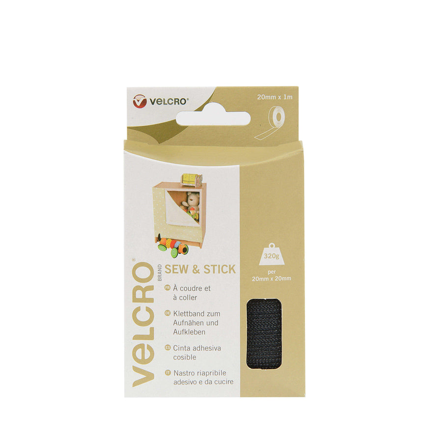 Tape - VELCRO® Brand Sew And Stick Tape 1m In Black