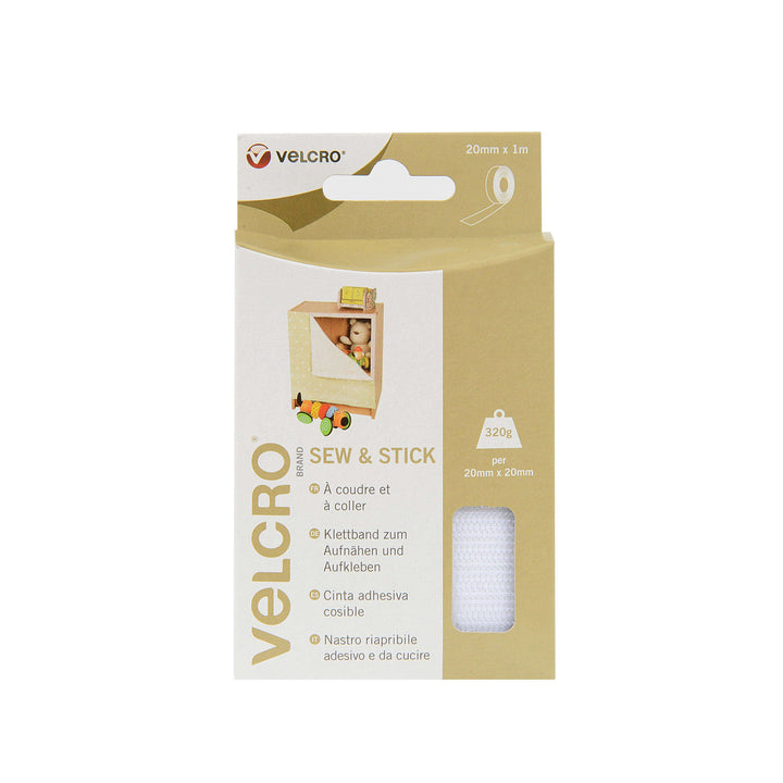 Tape - VELCRO® Brand Sew And Stick Tape 1m - White