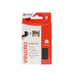 Tape - VELCRO® Brand Stick On Tape 1 M - Black