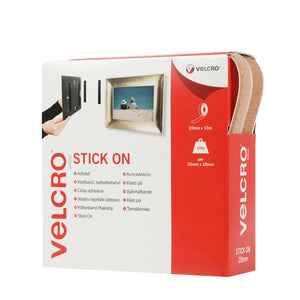 Tape - VELCRO® Brand Stick On Tape 10m - Beige