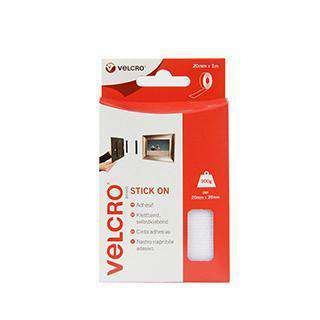 Tape - VELCRO® Brand Stick On Tape 1m - White