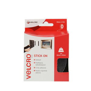 Tape - VELCRO® Brand Stick On Tape 2.5m - Black