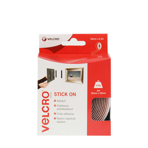 Tape - VELCRO® Brand Stick On Tape 2.5m - White