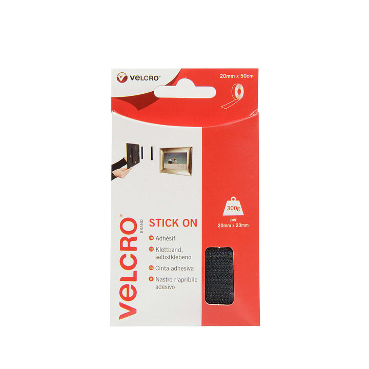 Tape - VELCRO® Brand Stick On Tape 50 Cm - Black