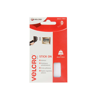 Tape - VELCRO® Brand Stick On Tape 50cm - White