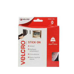 Tape - VELCRO® Brand Stick On Tape 5m - White