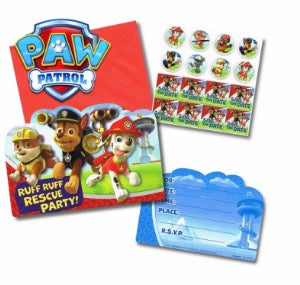 Paw Patrol Birthday Invitation Set