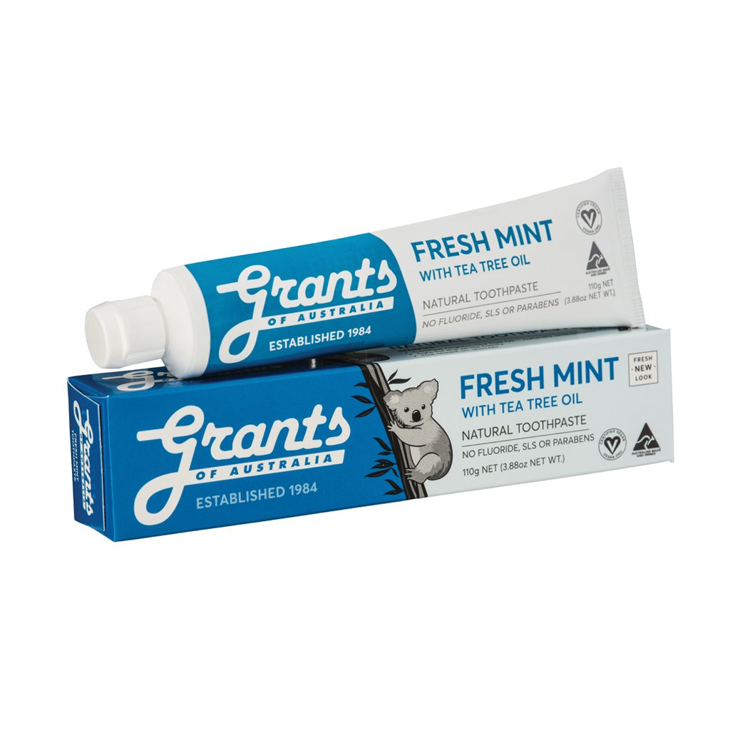 Grants Toothpaste Fresh Mint Fluoride Free 110g