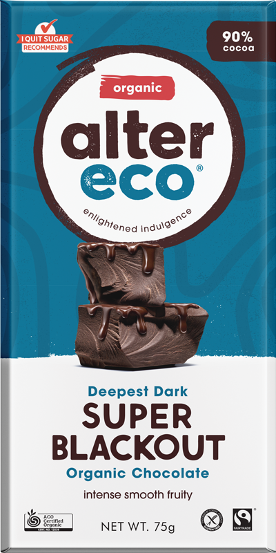 Alter Eco Deep Dark Super Blackout Chocolate 90%