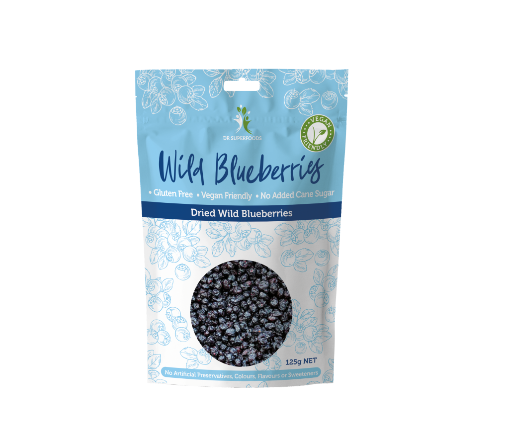 Dr Superfoods Dried Super Wild Blueberries  125g