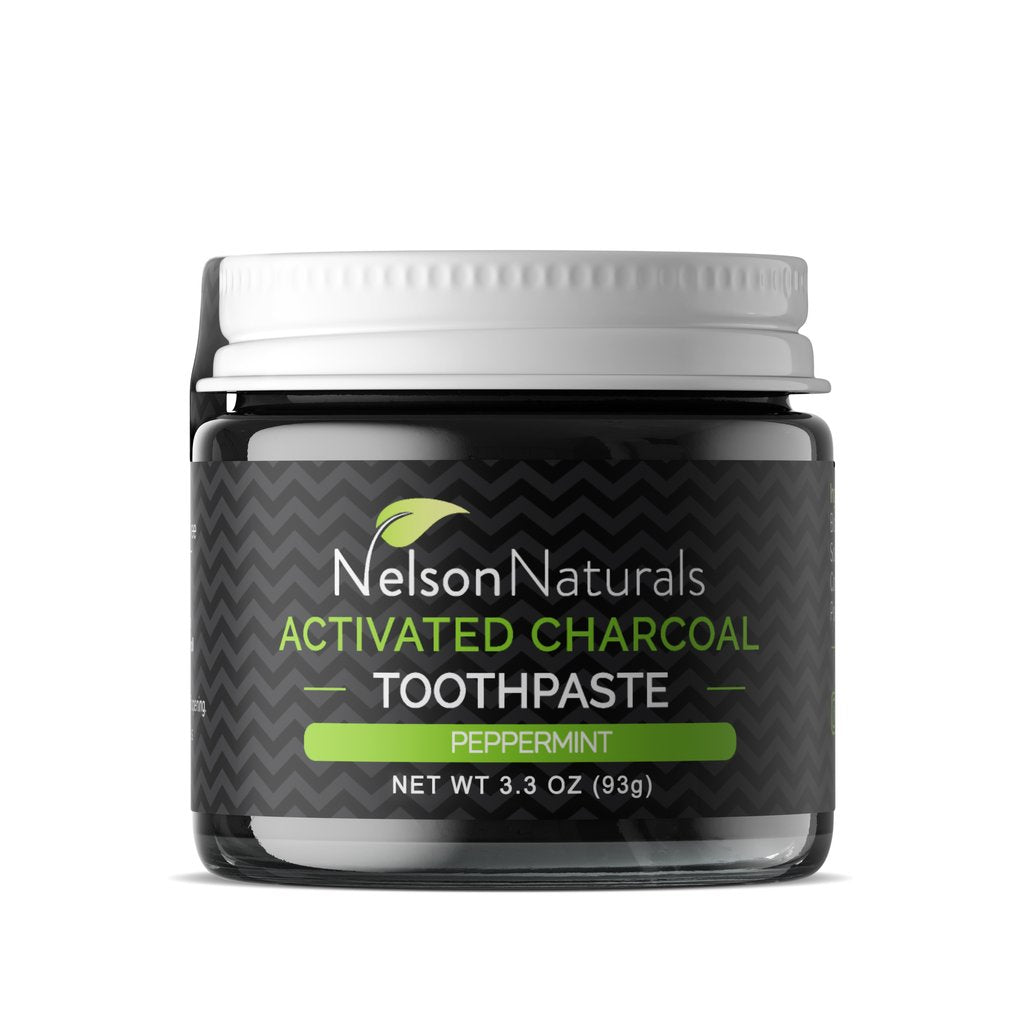 Nelson Naturals Activated Charcoal Whitening Toothpaste Peppermint 93g