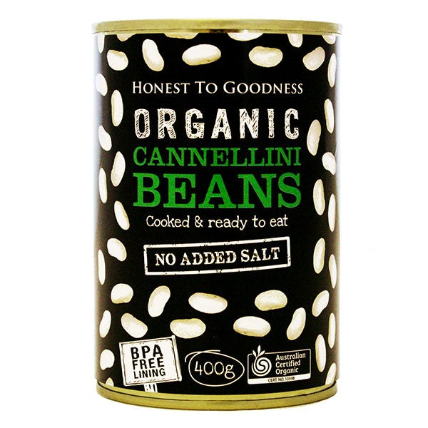 Organic Cannellini Beans 400g - BPA Free (Cooked)