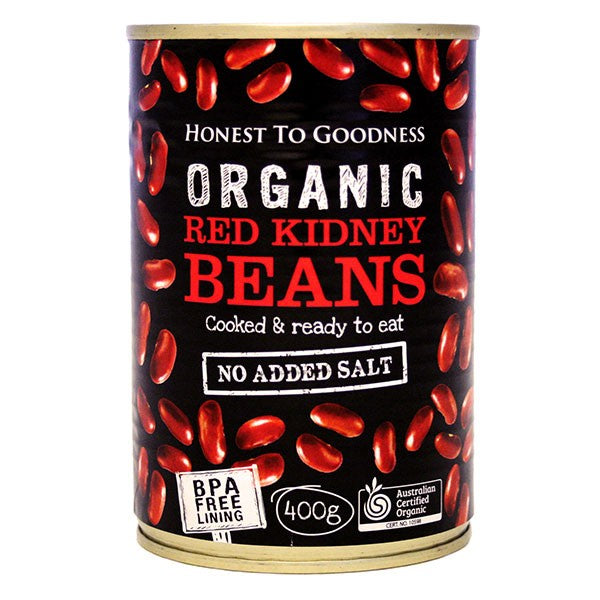 Organic Red Kidney Beans 400g - BPA Free (Cooked)