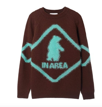 Bear Caution Sign Sweater Neul - Marquise de Laborde