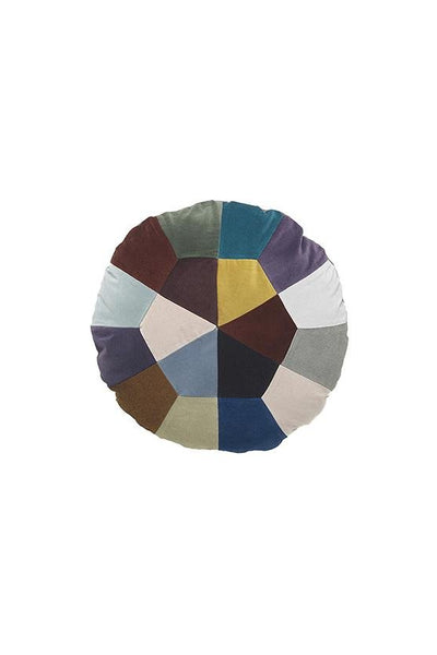 Christina Lundsteen Iris Round Patchwork Cushion - Marquise de Laborde