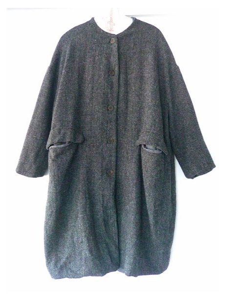 Coat Catharina Hannoh Charcoal 18 - Marquise de Laborde