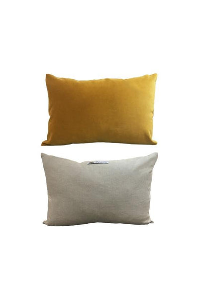 Cushion English Velvet & Linen - Moutarde