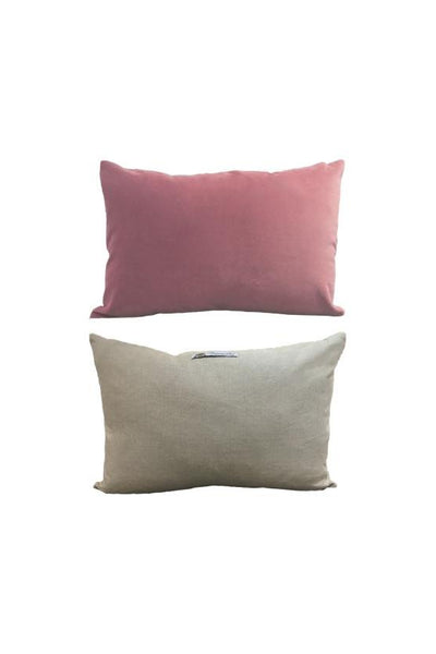 Cushion English Velvet & Linen - Rose Poussiéreuse