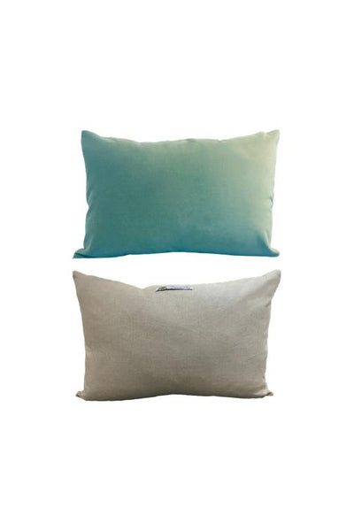 Cushion English Velvet & Linen - Sarcelle