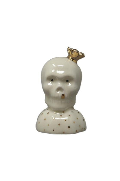 Grace Eun Mi Lee Salt and Pepper Shaker - Skull with Crown - Marquise de Laborde