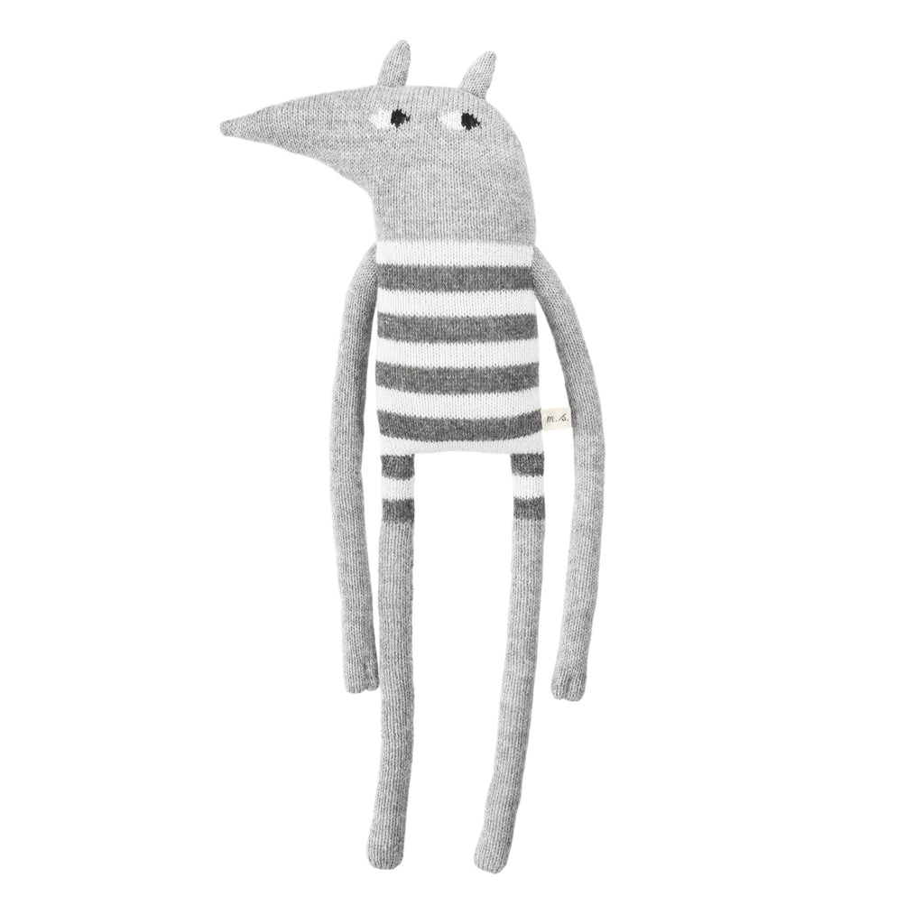 Grand Peluche Loup Gris Enfant Fair Trade