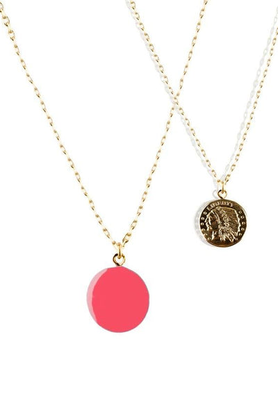 Guila Dot Totem Necklace Pink - Marquise de Laborde