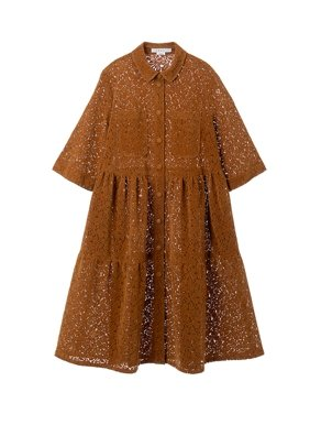 Lace Tiered Shirtdress Neul - Marquise de Laborde