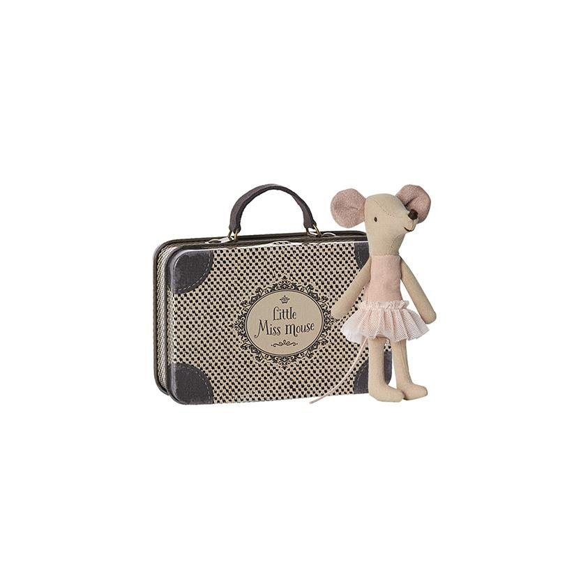 Maileg Ballerina Mouse with Suitcase - Marquise de Laborde