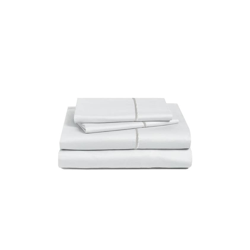 Marquise De Laborde Luxury Cotton Percale Bed Linens - Cool Grey